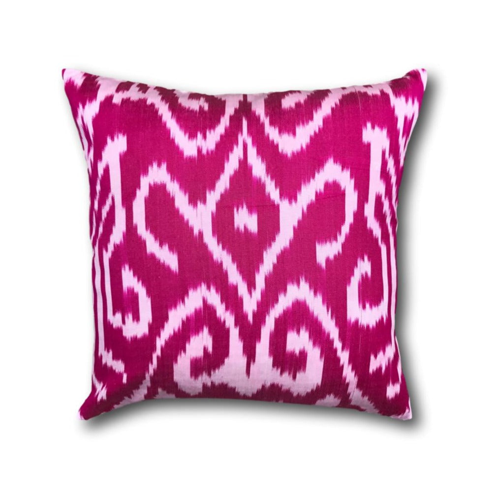 IKAT cushion cover - Bright Pink- 40 x 40 cm