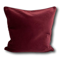 Velvet cushion cover - Burgundy -  50 x 50 cm
