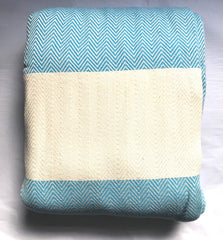 Chevron Blanket/ Bed Cover 200 x 240 cm - Blue