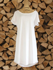 Oversized Cotton Day Dress - White