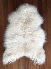 Icelandic Curly Wool Sheepskin Rug - Natural White