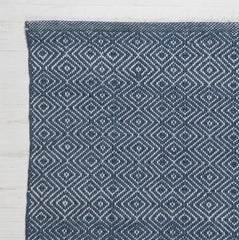 Diamond Rug - Navy