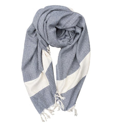Diamond cotton scarf - Dark Grey
