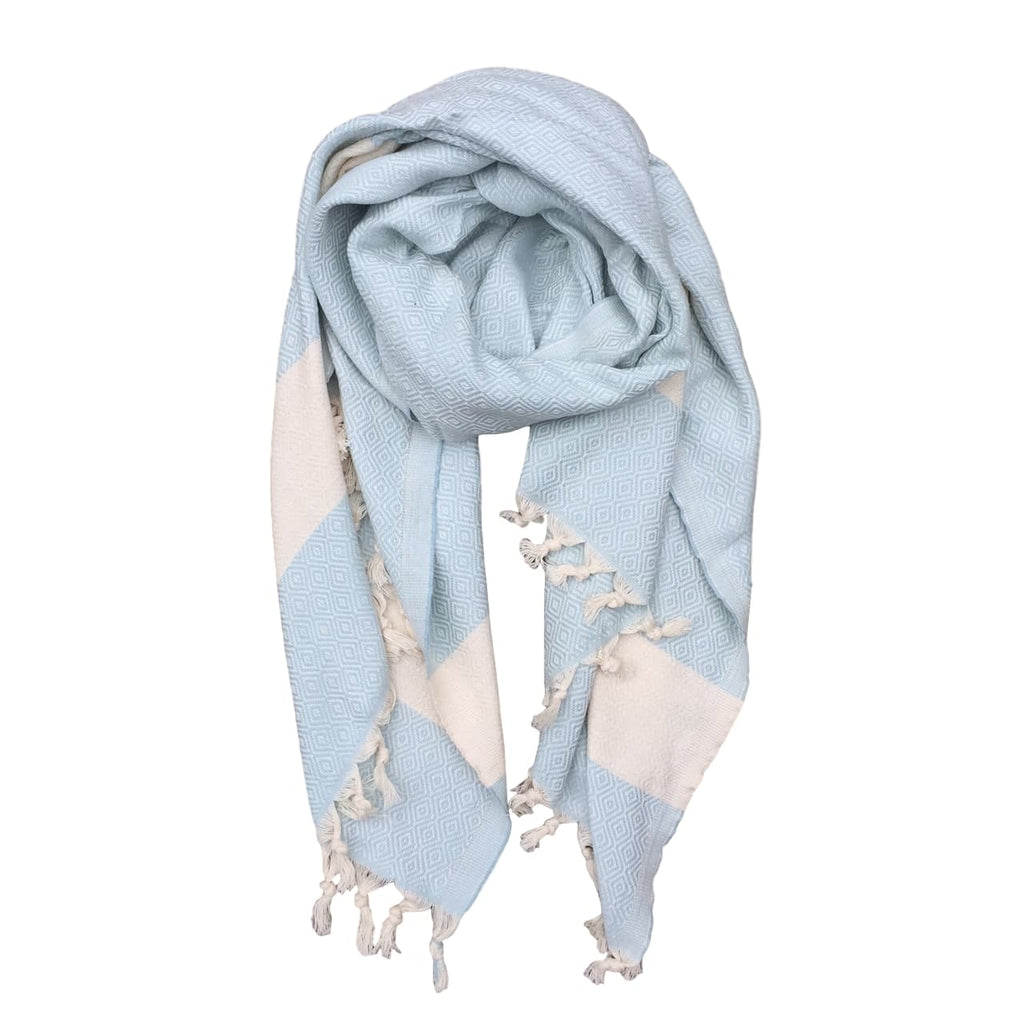 Diamond cotton scarf - Ice Blue