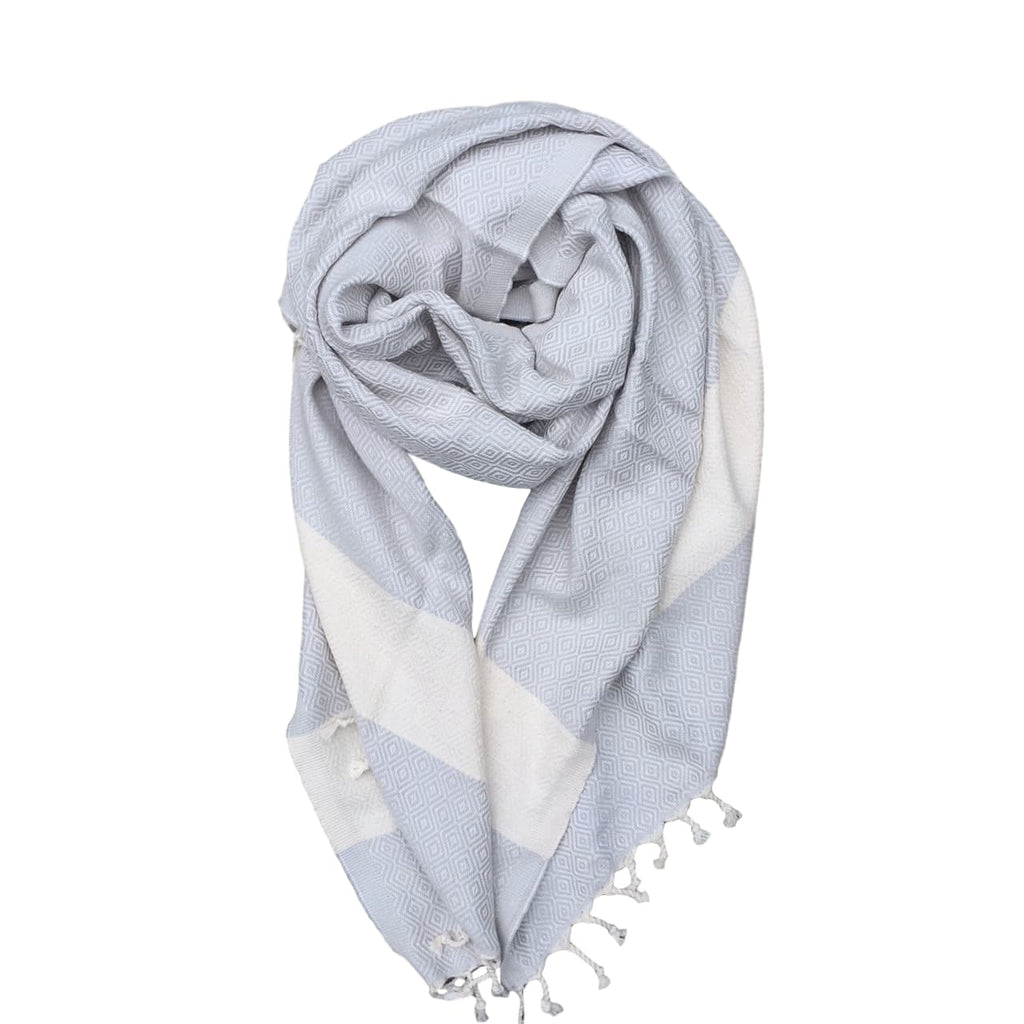 Diamond cotton scarf - Light Grey