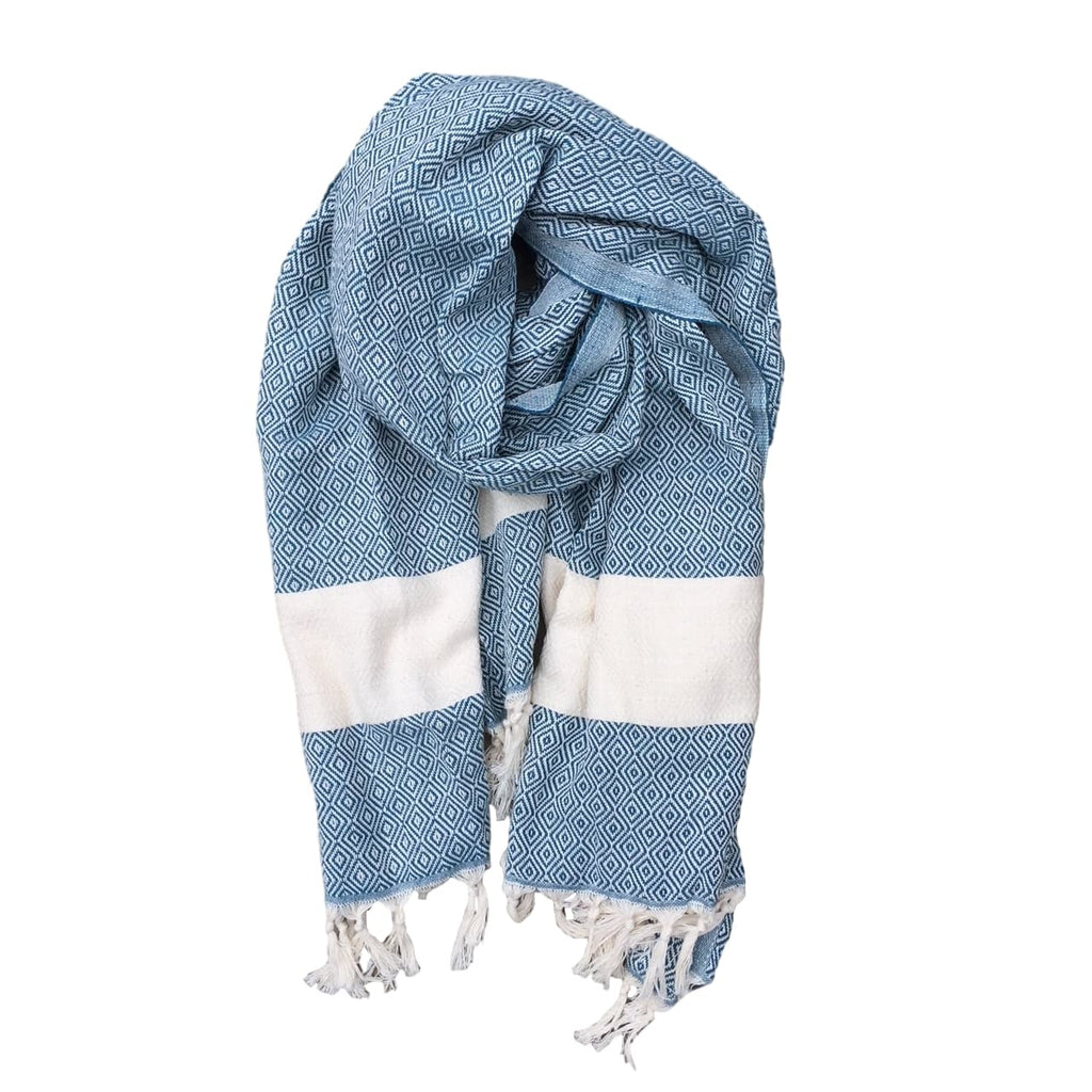 Diamond cotton scarf - Petrol Green