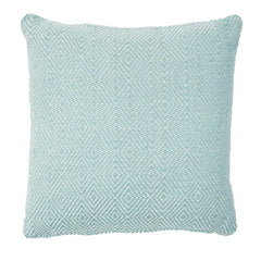 Outdoor Lightweight Diamond Teal Cushion