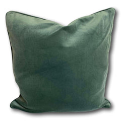 Velvet cushion cover - Dove Green -  50 x 50 cm