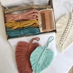 DIY Macrame Feather Kit - Triple