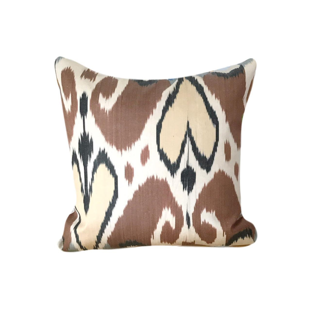 IKAT cushion cover - Brown - 45 x 45 cm