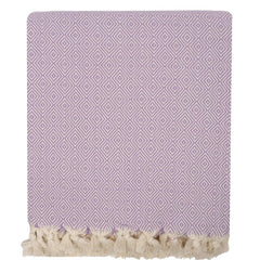 Handwoven Diamond Blanket - Lilac