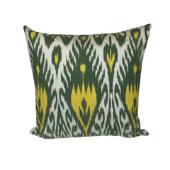 Green Yellow IKAT Cushion Cover 45 x 45 cm - my little wish