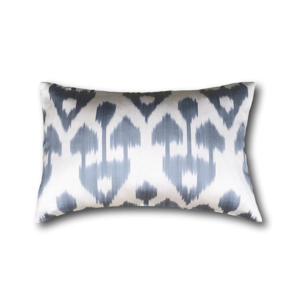 IKAT cushion cover - grey - double sided small - 25 x 40 cm
