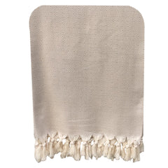 Handwoven Diamond Blanket - Beige
