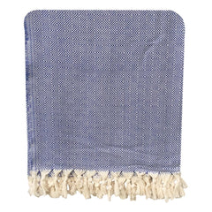 Handwoven Diamond Blanket - Blue
