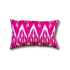 IKAT cushion cover - Hot Pink chevron double sided small- 25 x 40 cm