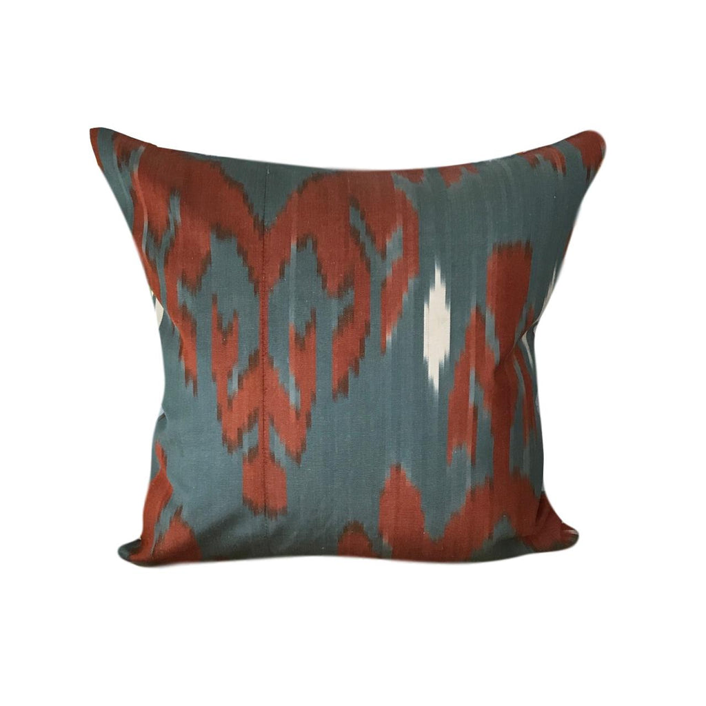 IKAT cushion cover - Orange and Grey - 45 x 45 cm