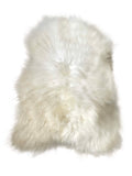 Icelandic Long Wool Sheepskin Rug - Natural White