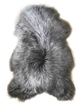 Icelandic Long Wool Sheepskin Rug - Grey