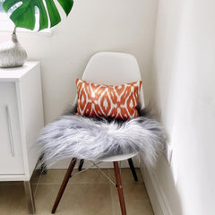 IKAT cushion cover - Orange - Double sided small 25 x 40 cm