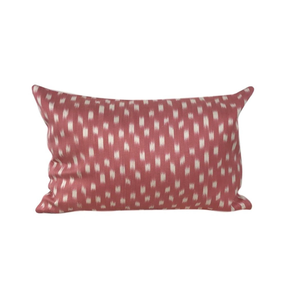 IKAT cushion cover -Pink - Double sided small  25 x 40 cm