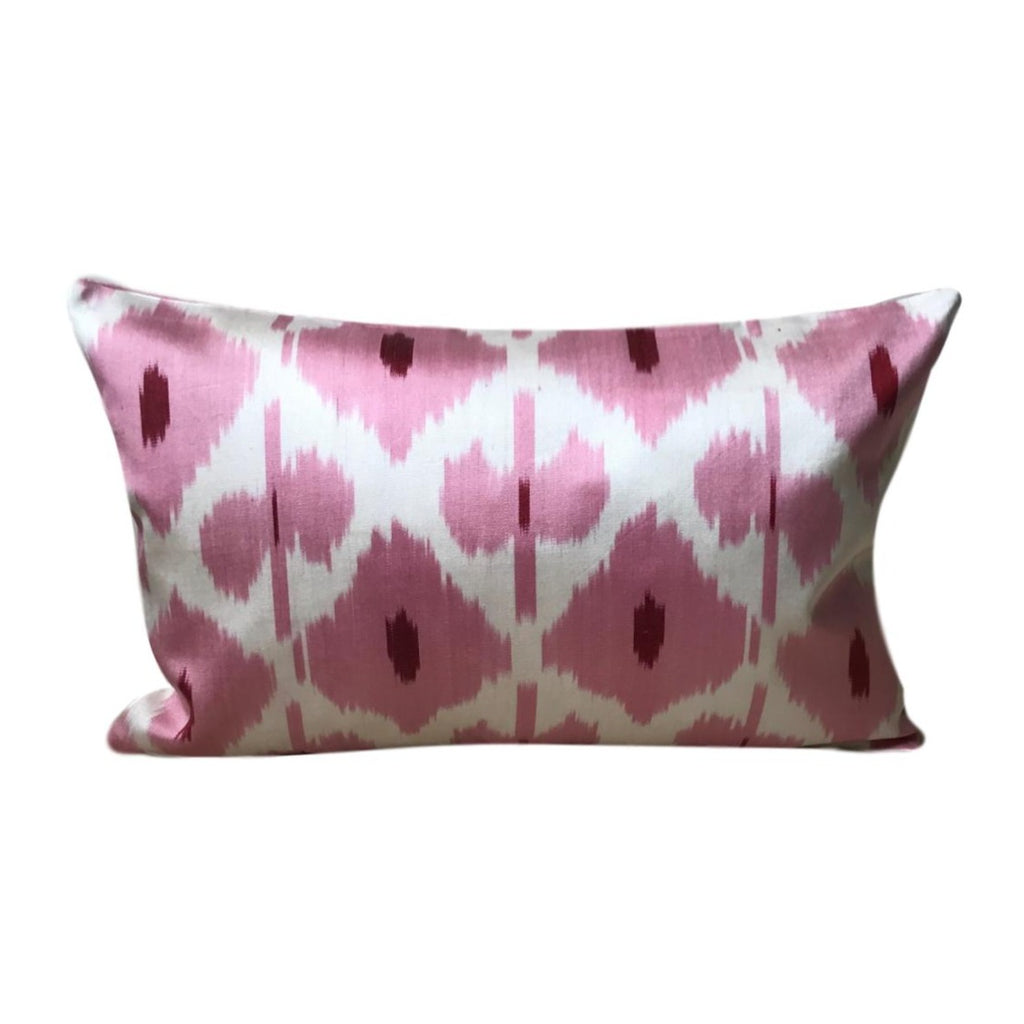 IKAT cushion cover - pink - double sided small - 25 x 40 cm