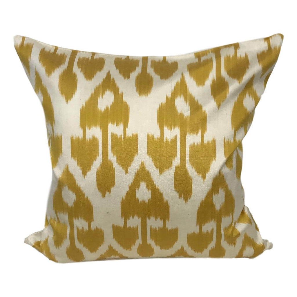 IKAT cushion cover -Mustard Yellow -  50 x 50 cm