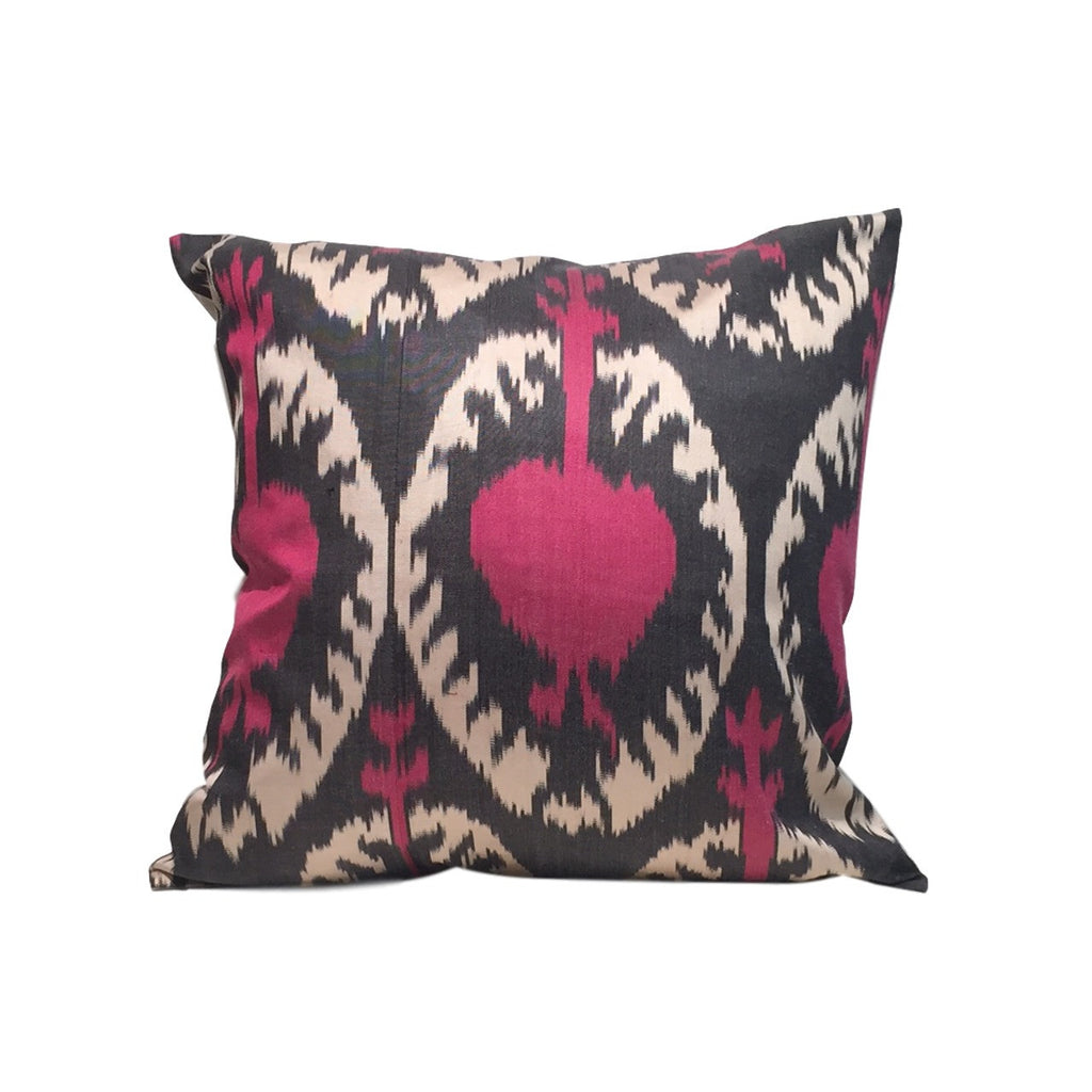 Pink Pomegranate IKAT Cushion Cover 45 x 45 cm - my little wish