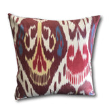 IKAT cushion cover - Double Sided- Red, Blue and Yellow Kilim 50 x 50 cm