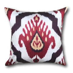 IKAT cushion cover - Red Kilim- 40 x 40 cm