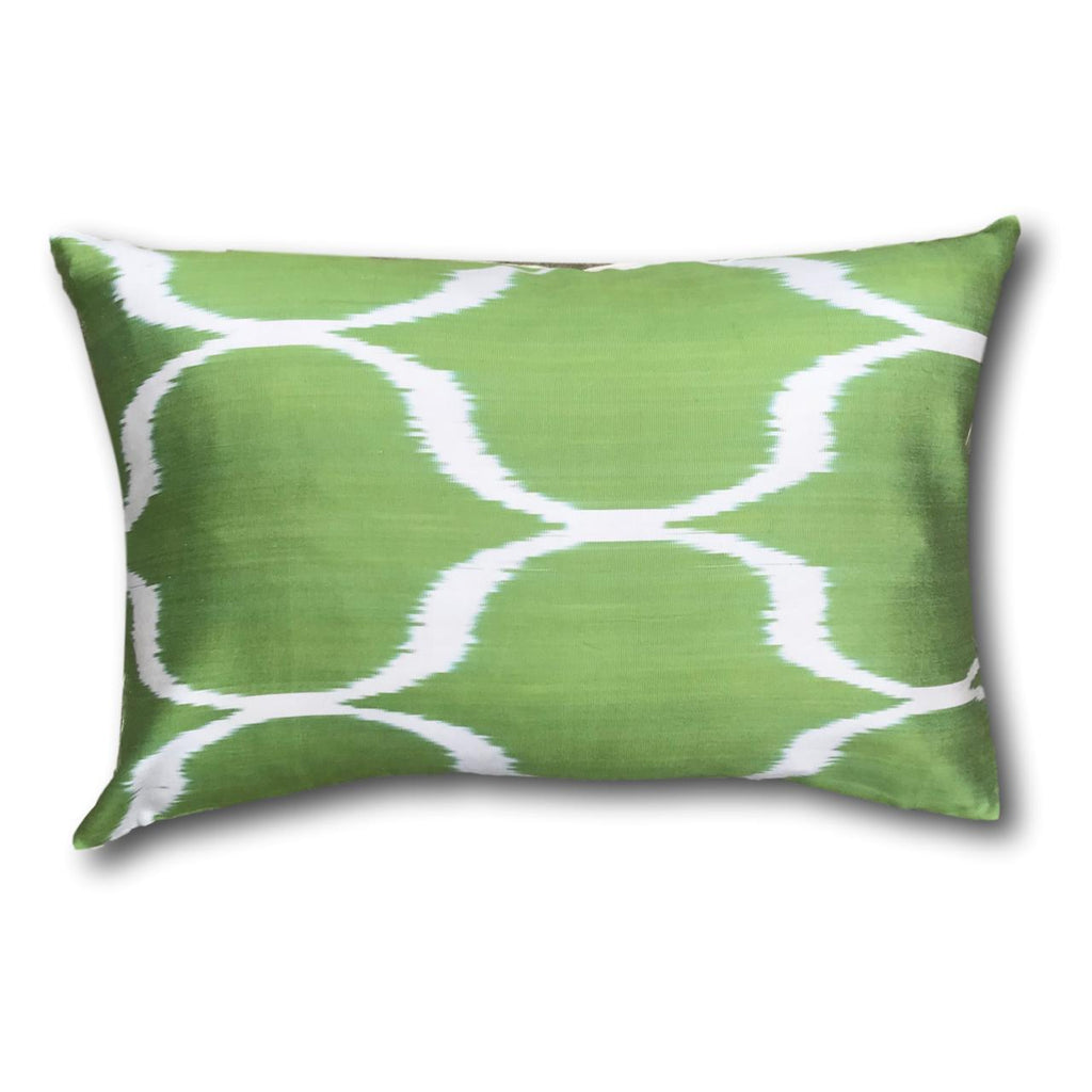 IKAT cushion cover - Grass Green - 40 x 60 cm