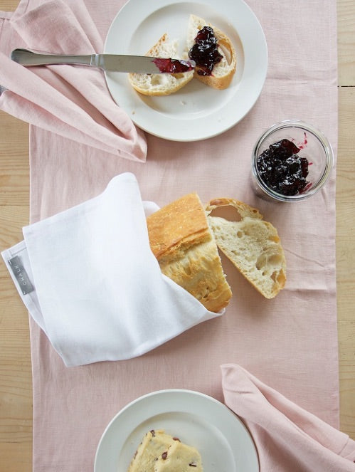 Linen Table Runner - Pink