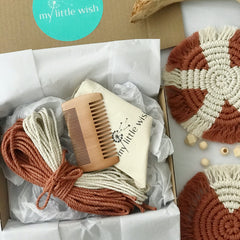 DIY Macrame Coaster Kit - Multi Coloured