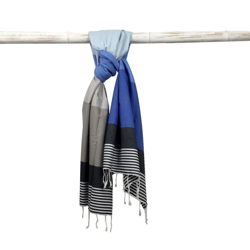 Miami Hammam Towel - Blue/Grey - my little wish  - 1