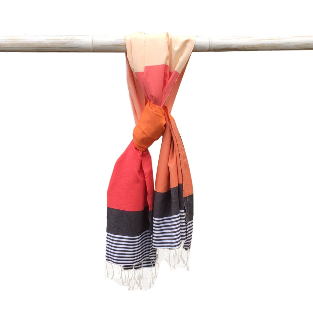 Miami Hammam Towel - Pink/Orange - my little wish  - 1