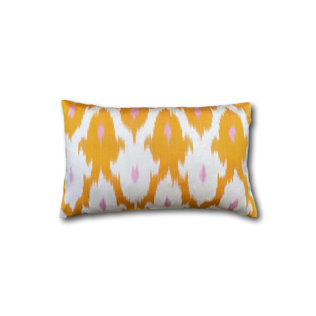 IKAT cushion cover - orange and pink - double sided small - 25 x 40 cm