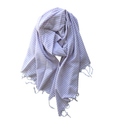 Thin Striped Cotton Scarf - Lilac - my little wish