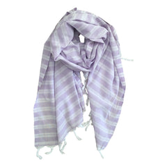 Pastel Striped Cotton Scarves - Lilac - my little wish