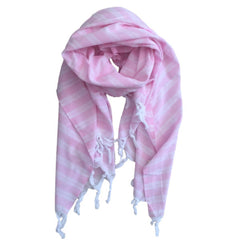 Pastel Striped Cotton Scarves - Pink - my little wish