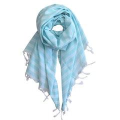 Pastel Striped Cotton Scarves - Mint - my little wish