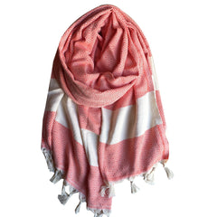 Diamond cotton scarf - Red - my little wish