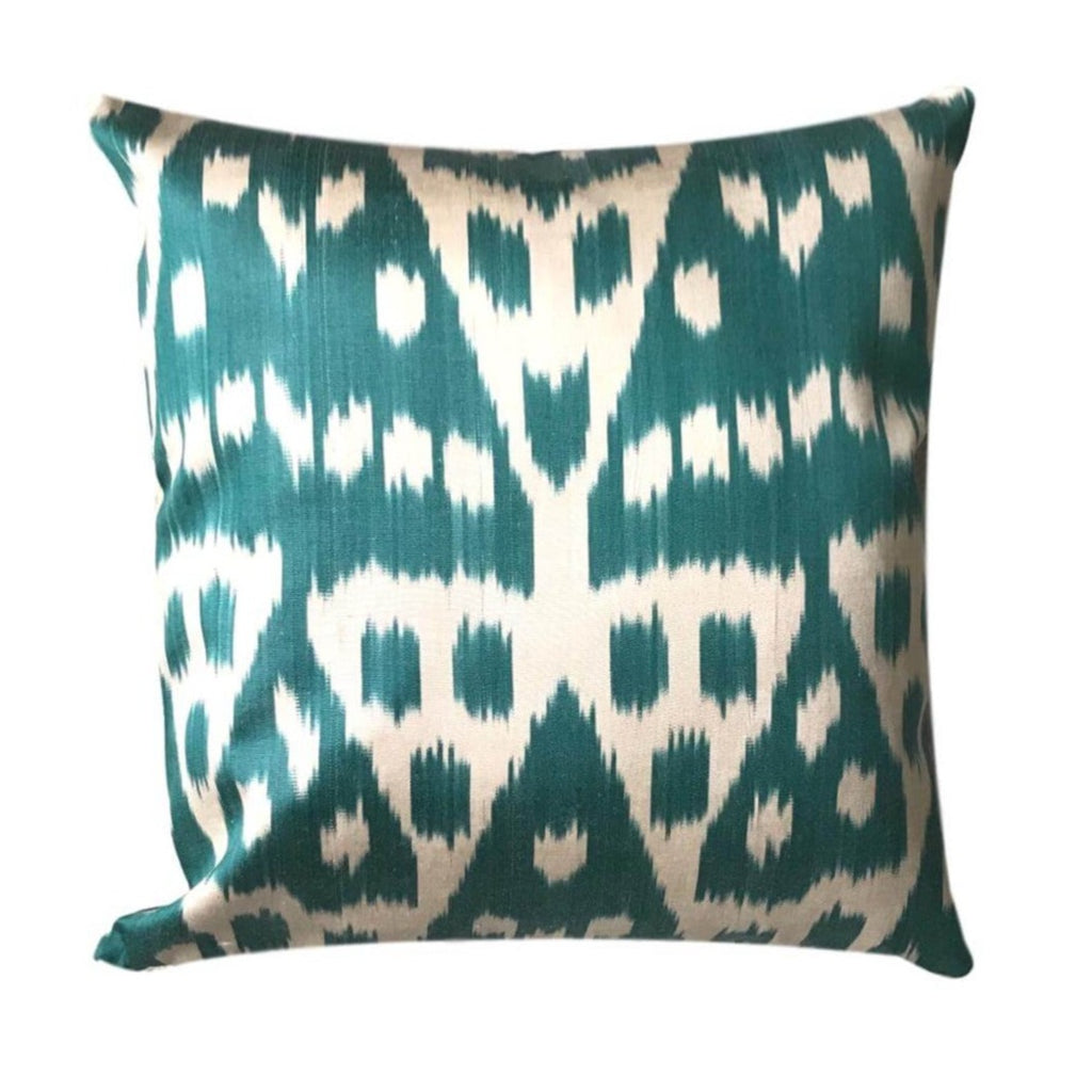 IKAT cushion cover - Teal - 40 x 40 cm