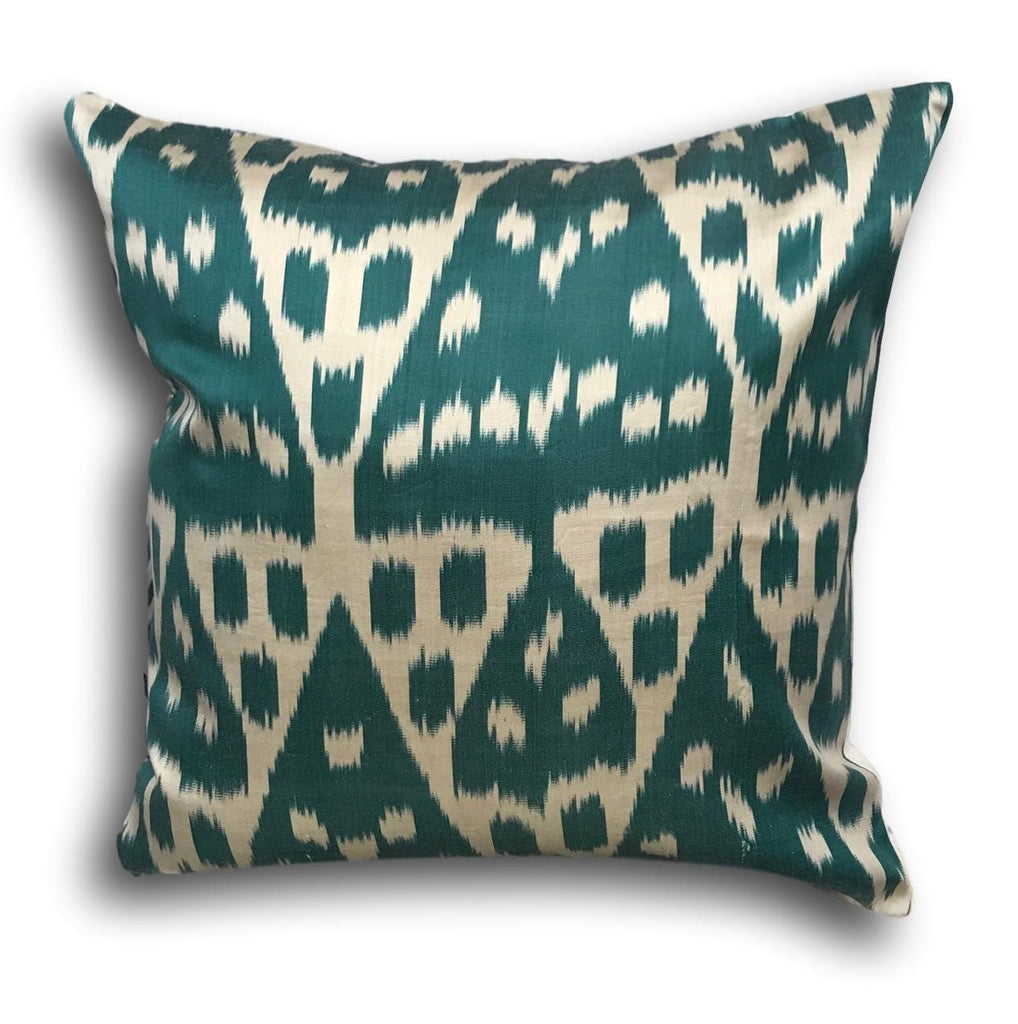 IKAT cushion cover -Petrol - 50 x 50 cm