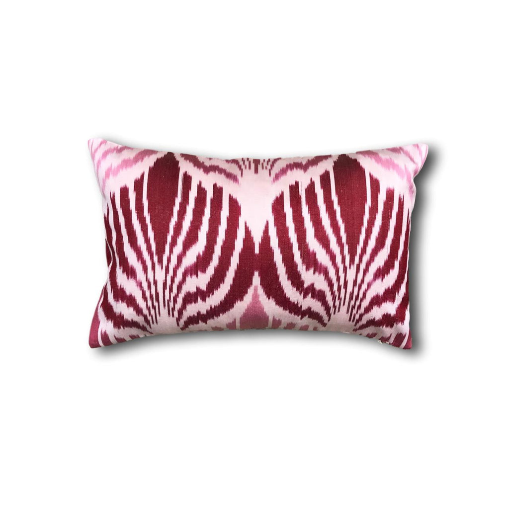 IKAT cushion cover - Red and Pink double sided small- 25 x 40 cm