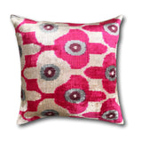 IKAT cushion cover - Pink Dots- Velvet -  50 x 50 cm