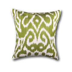 IKAT cushion cover - Pistachio Green- 40 x 40 cm