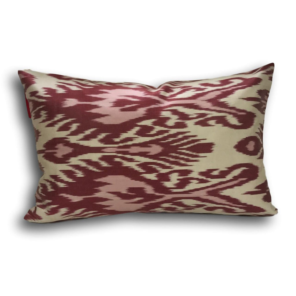 IKAT cushion cover - Pink and Red - 40 x 60 cm