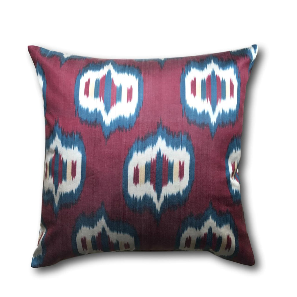IKAT cushion cover - Red and Blue Eyes 50 x 50 cm