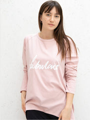 Oversized Pink Cotton T-Shirt -  Fabulous
