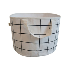 Shallow Storage Bag - Grid Print